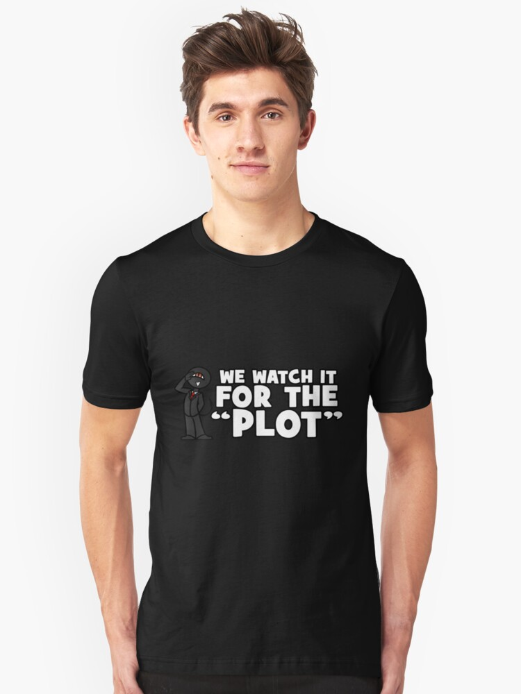 """""""We watch it for the PLOT"""" Shady Corner 2017 Shirt Unisex T-Shirt Front"""