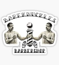 Bareknuckles Barbershop  Sticker