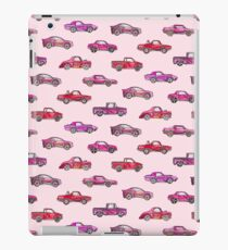 Little Toy Cars in Watercolor on Pink  iPad Case/Skin