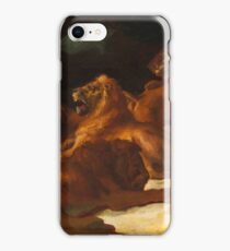 Lions in a Mountainous Landscape iPhone Case/Skin