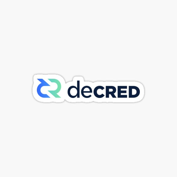 Decred Crypto Currency Sticker