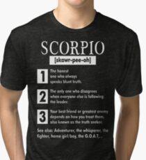 Scorpio Adventurer Whisperer Fighter Tshirt T-Shirt  Tri-blend T-Shirt