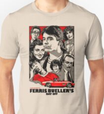 Ferris Bueller - Retro Poster Unisex T-Shirt