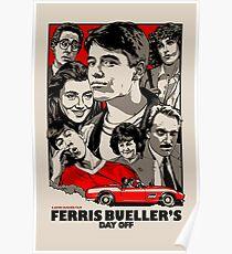 Ferris Bueller - Retro Poster Poster