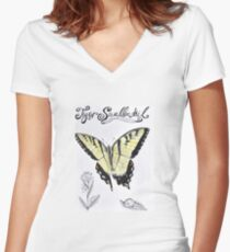 Tiger Swallowtail Women's Fitted V-Neck T-Shirt