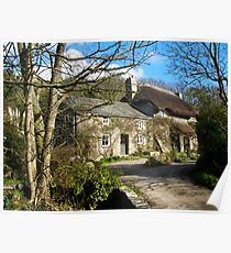 Thatched Cottage Penberth Poster