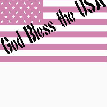God Bless the USA Pink Flag by photoforyou
