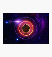 The Little Astronaut on a Tiny Fractal Planet in a Long Lost Nebula Photographic Print