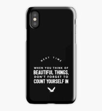 Cute and Cool Inspirational Merchandise - Count Yourself In - Best Gift for Men, Women, Mom, Dad, Boyfriend, Girlfriend, Husband, Wife, Him, Her, Couples, Grandma, Brother or Friends iPhone Case/Skin