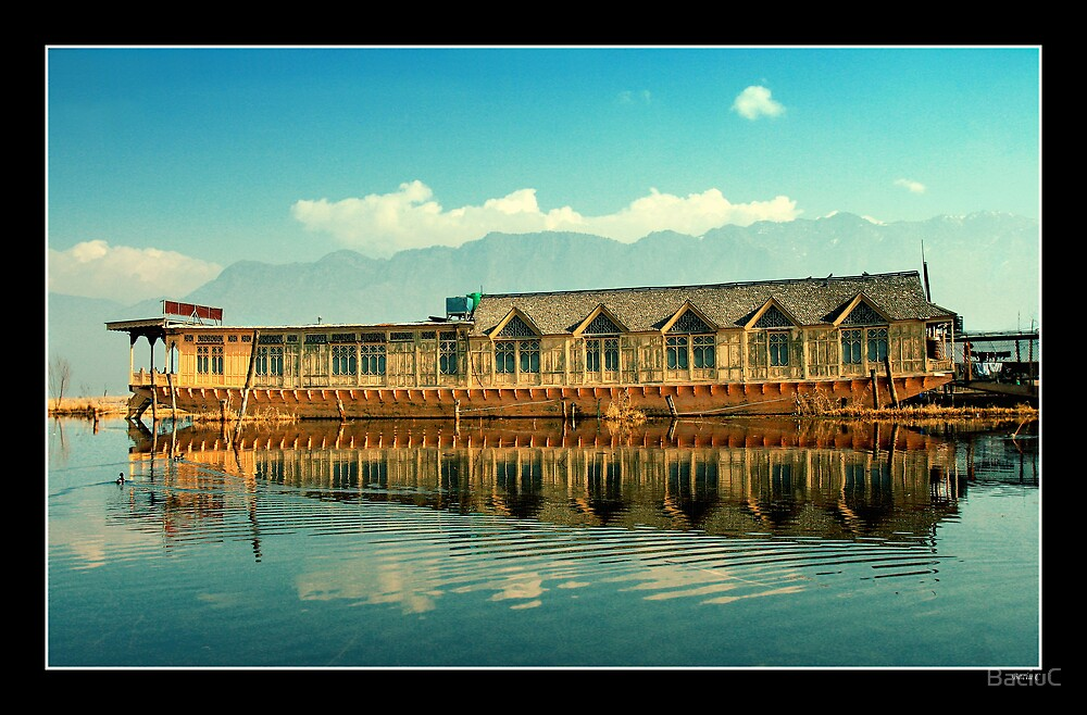 Boathouse on Dal Lake by BaciuC