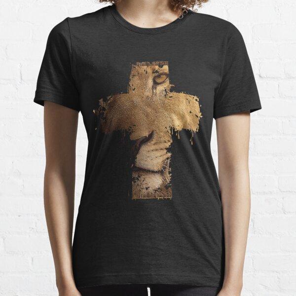 Lion Cross Christian  Essential T-Shirt