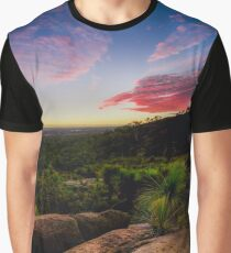 Sunset in the Perth hills Graphic T-Shirt
