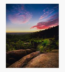 Sunset in the Perth hills Photographic Print