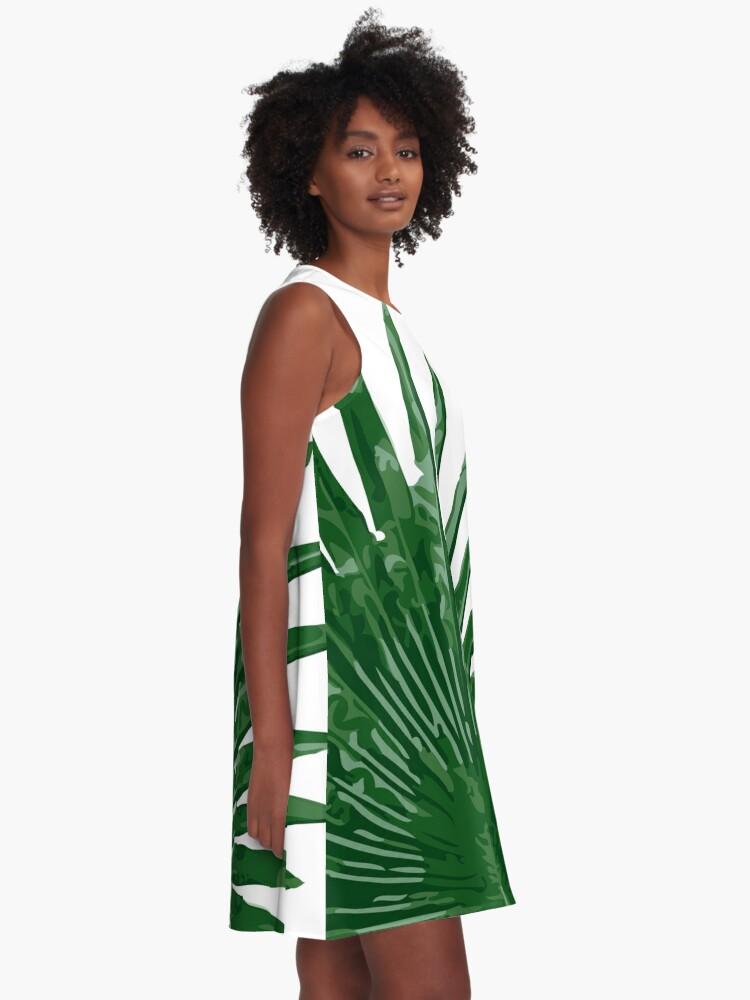 Alternate view of Fan Palm Leaf A-Line Dress