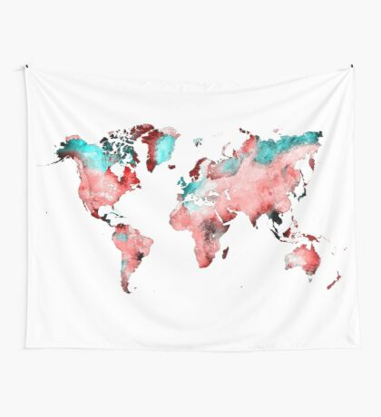 world map 72 Wall Tapestry