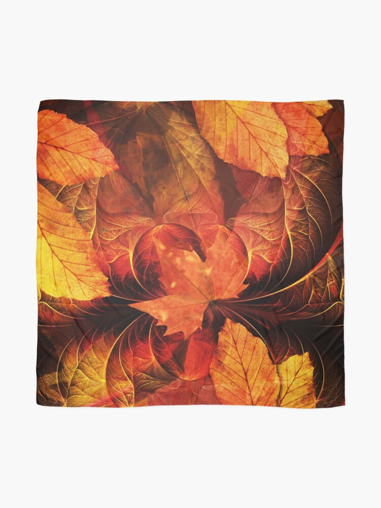Alternate view of Apoptosis: The Fractal Geometry of Falling Leaves Scarf