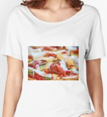 Pancetta Parmesan and Arugula Pizza Women's Relaxed Fit T-Shirt