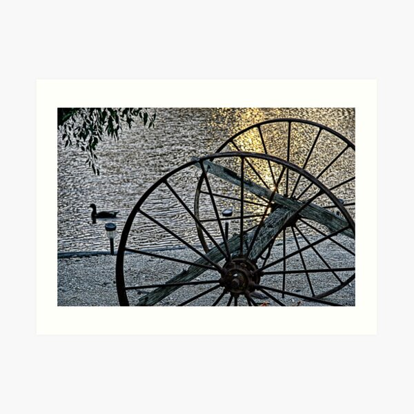 Wagon Wheels II Art Print