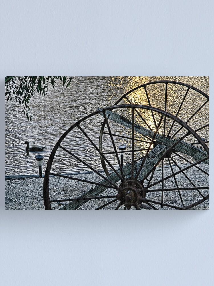 Alternate view of Wagon Wheels II Canvas Print