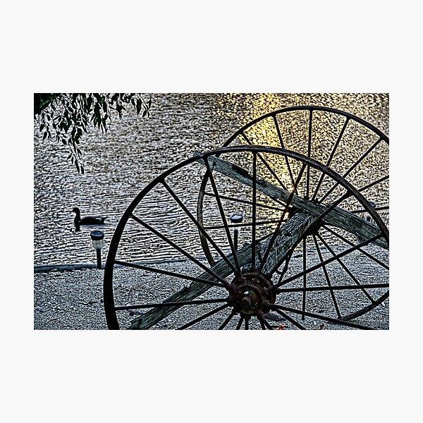Wagon Wheels II Photographic Print