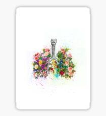 Flowers Ribs Skeleton Watercolor Sticker