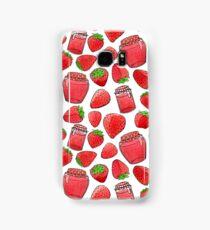 Colorful watercolor strawberries & jams Samsung Galaxy Case/Skin