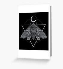 Occult Moth Greeting Card