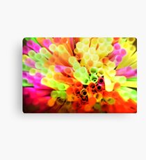 Flourescent Straws Canvas Print