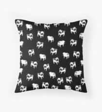 Pug dog pattern Throw Pillow