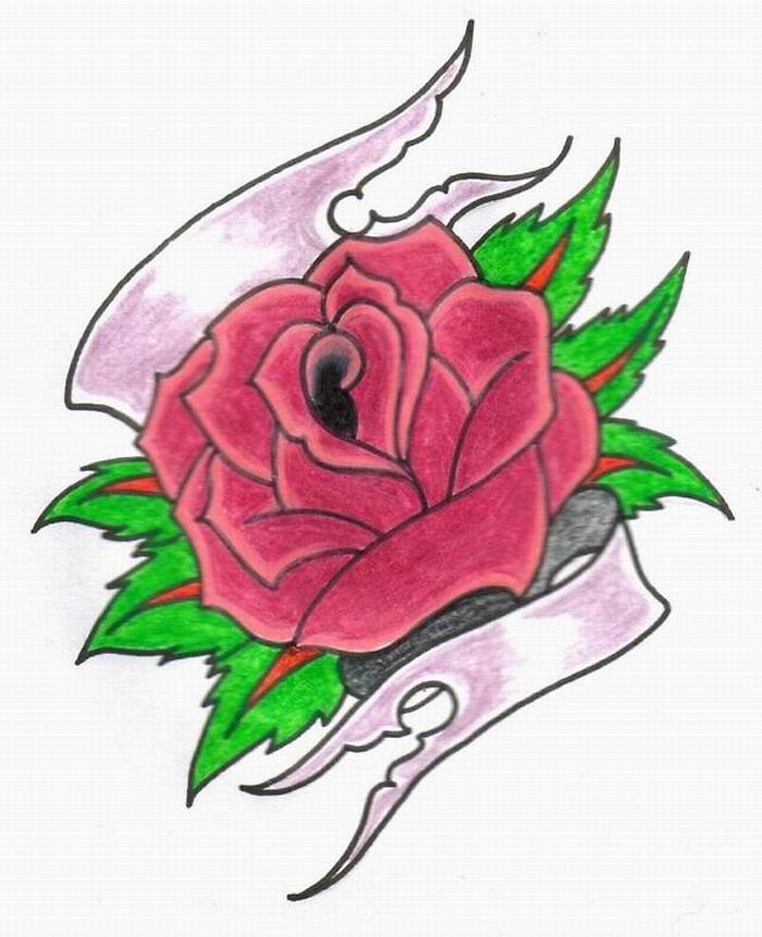 Tattoo Rose by hardrockzombie