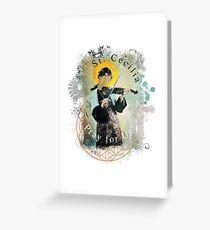 Saint Cecilia Contemporary Art Catholic  Greeting Card