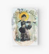 Saint Cecilia Contemporary Art Catholic  Hardcover Journal