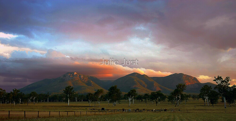Mountain Sunset by Julie Just