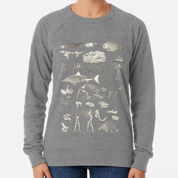 Paleontology Illustration Lightweight Sweatshirt
