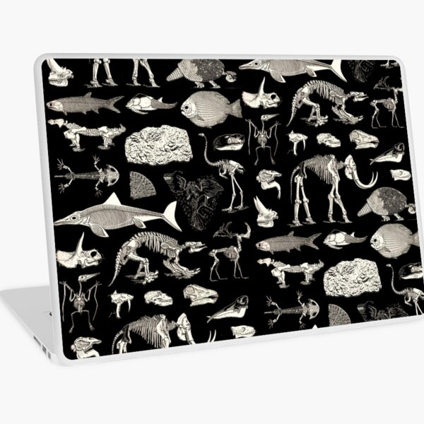 Paleontology Illustration Laptop Skin