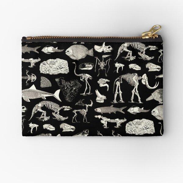 Paleontology Illustration Zipper Pouch