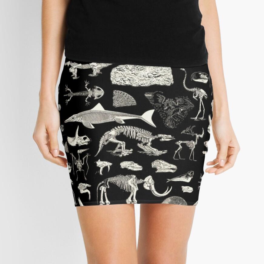 Paleontology Illustration Mini Skirt
