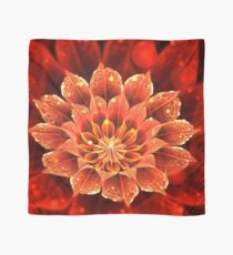 Red Dahlia Fractal Flower with Beautiful Bokeh Scarf
