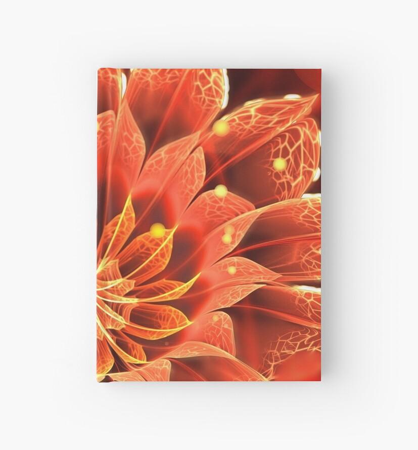 Rote Dahlia Fractal Flower mit schönen Bokeh von Jaya Prime