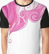 Dotted pink swirls. Graphic T-Shirt