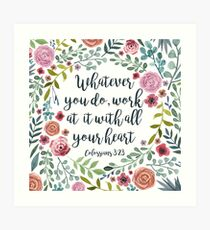 Colossians Art Print