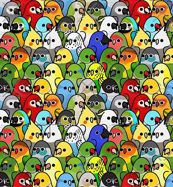 Zu viele Vögel! Vogelkader 1 von MaddeMichael