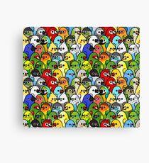 Too Many Birds! Bird Squad 1 Canvas Print