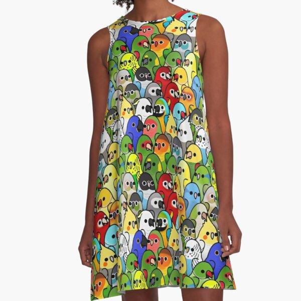 Too Many Birds! Bird Squad Classic A-Line Dress