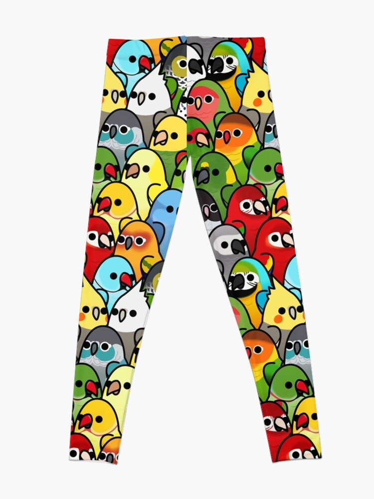 Alternate view of Too Many Birds! Bird Squad Classic Leggings