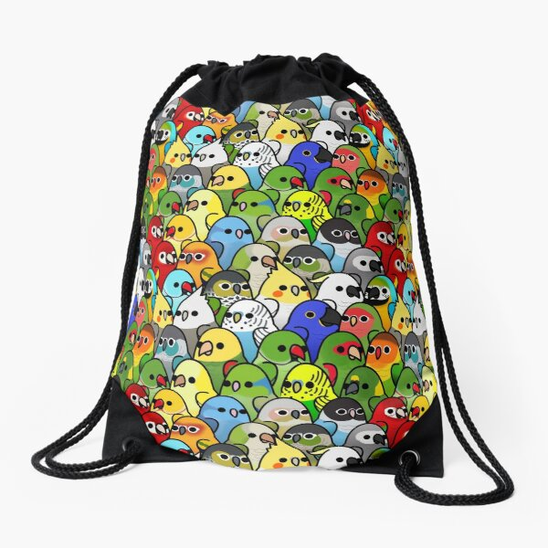 Too Many Birds! Bird Squad Classic Drawstring Bag