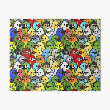 Too Many Birds! Bird Squad Classic Art Board Print