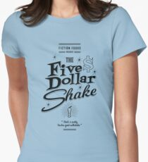Pulp Fiction - Five Dollar Shake Retro Womens Fitted T-Shirt