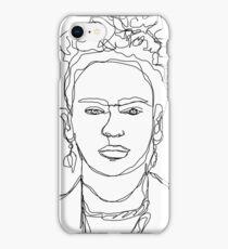 Frida Kahlo Single-Line Portrait iPhone Case/Skin