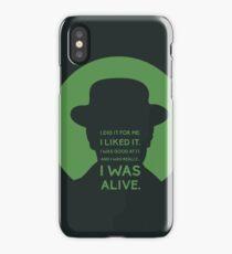 Breaking Bad Heisenberg quote iPhone Case/Skin